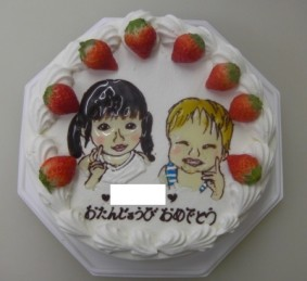 兄弟ケーキ