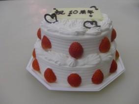 生クリーム4号と5号の二段ケーキ