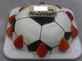 サッカーボール生クリームデコレーションケーキ